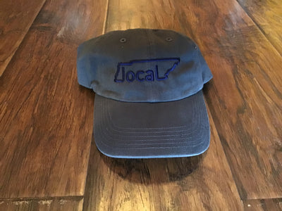 Local Relaxed Fit Hat - Charcoal with Navy Stitching