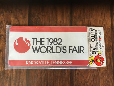 1982 World's Fair Commemorative License Plate  License Plate - Nothing Too Fancy