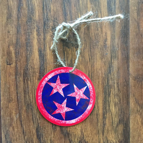 Aluminum Tri-Star Ornament - Red
