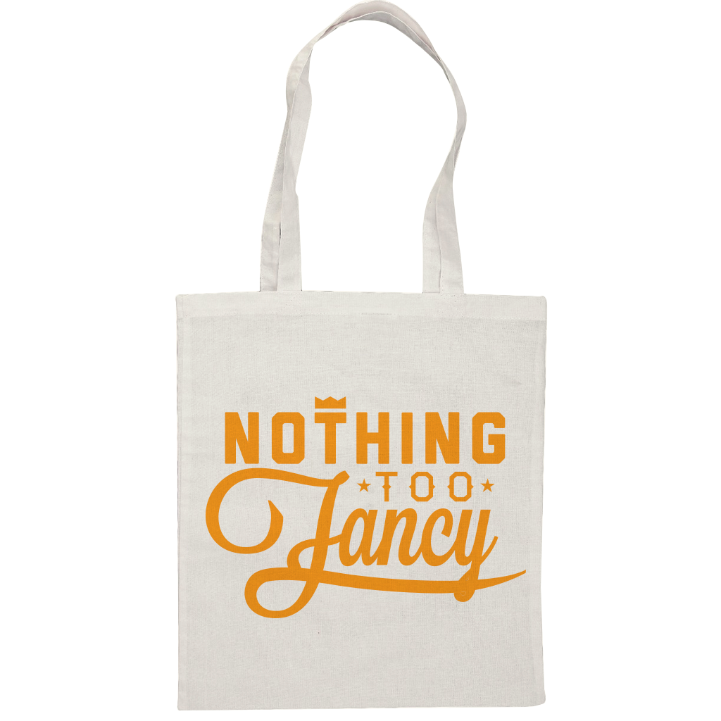 7bc3ac6bb NTF Canvas Tote Bag - Orange Tote Bag - Nothing Too Fancy