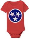 TN Flag Onesie - Red w/ Blue  Onesie - Nothing Too Fancy