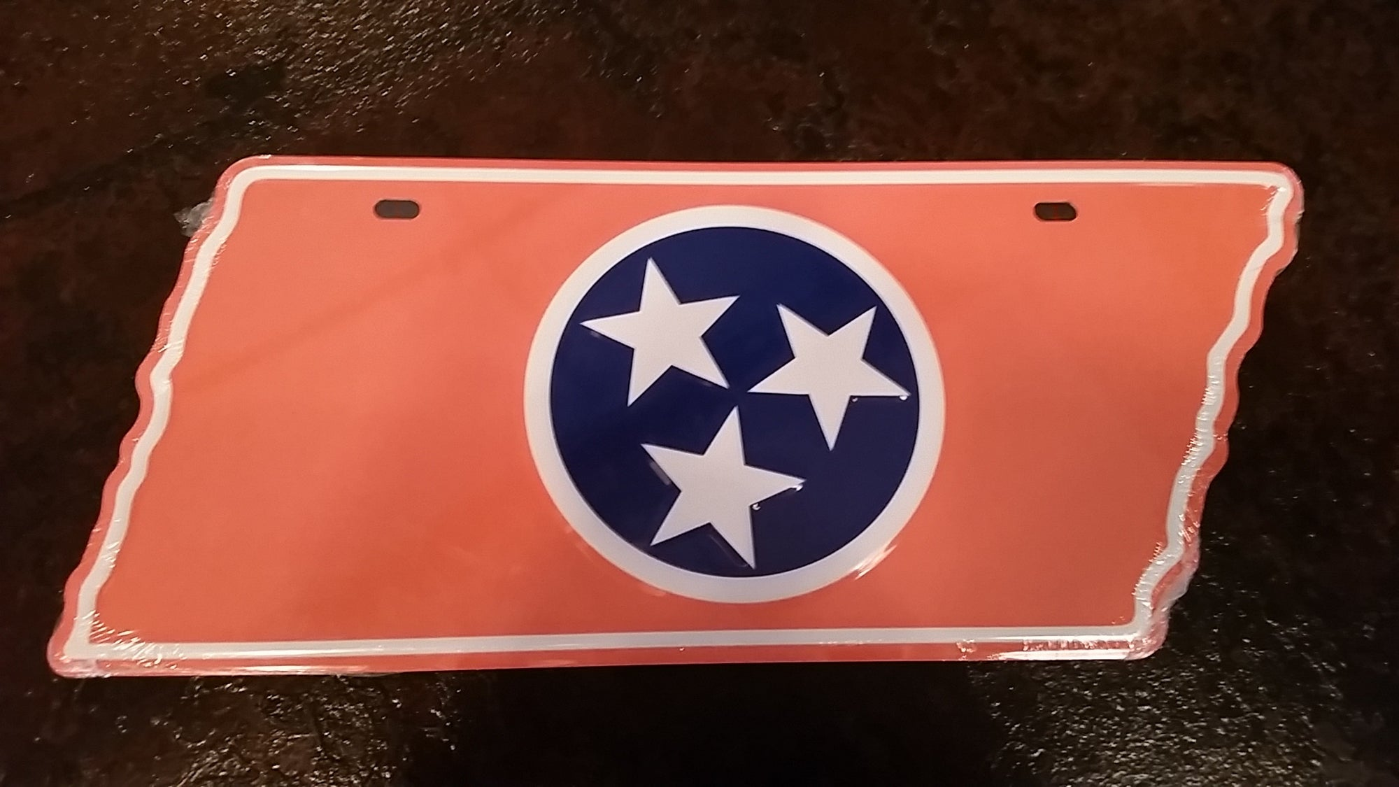Orange TN Flag License Plate - Nothing Too Fancy