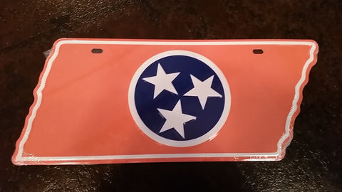 Orange TN Flag License Plate