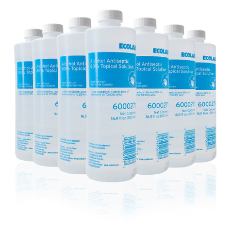 Ecolab 80% Alcohol Hand Sanitizer - 1 Case (Qty 12, 16.9oz bottles)