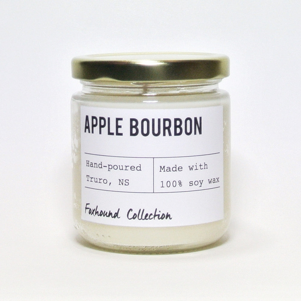 foxhound collection apple bourbon soy candle