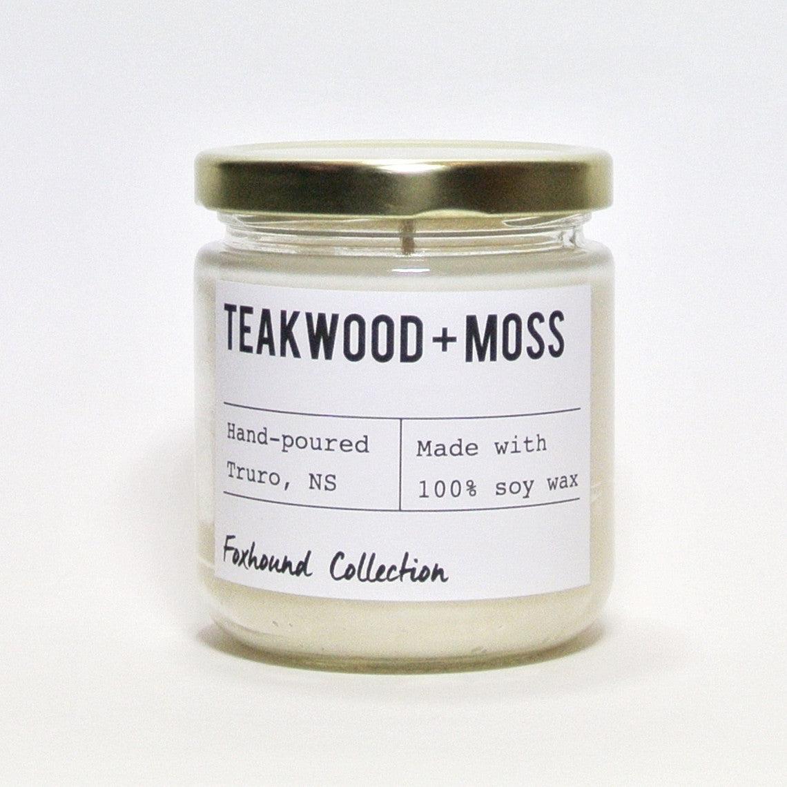 foxhound collection teakwood + moss soy candle