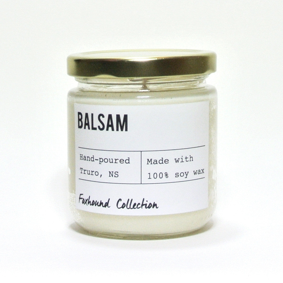 foxhound collection balsam soy candle