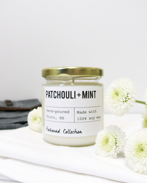 foxhound collection patchouli + mint soy candle