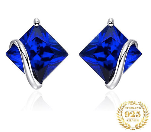 Stunning, Gorgeous 2.8 ct Blue Sapphire Earrings - September's Birthstone - ON SALE