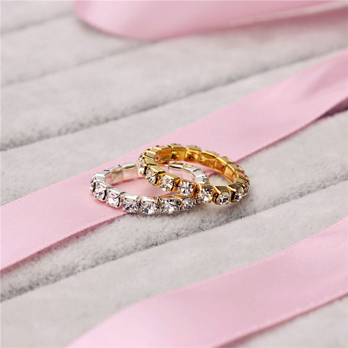 Elastic Single Crystal Toe Ring - LoveOurJewelry.com