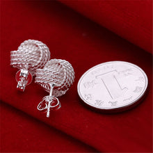 Load image into Gallery viewer, Elegant 925 Silver Color Elegant Soft Winding Button Earrings