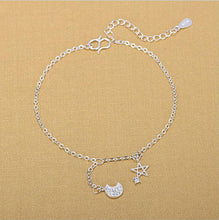 Load image into Gallery viewer, Sterling Silver Constellation Star-Moon Anklet is the Perfect Anklet for Every Style!