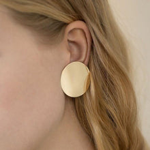 Load image into Gallery viewer, Make a Statement with Big Round Button Stud Earrings