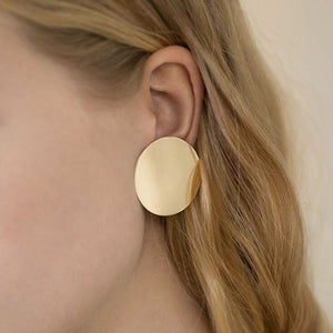 Make a Statement with Big Round Button Stud Earrings