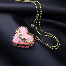 Load image into Gallery viewer, Handcrafted Enamel Open Heart Necklace Pendant