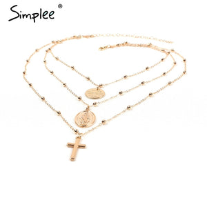 Special Multilayer Necklace with Religious Symbols - LoveOurJewelry.com