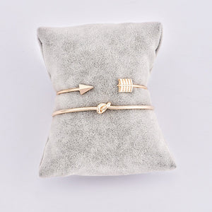Our Simple Gold 2 Piece Tie Knot, Open Cuff Bracelet FREE WHEN YOU BUY ONE OF OUR WATCHES