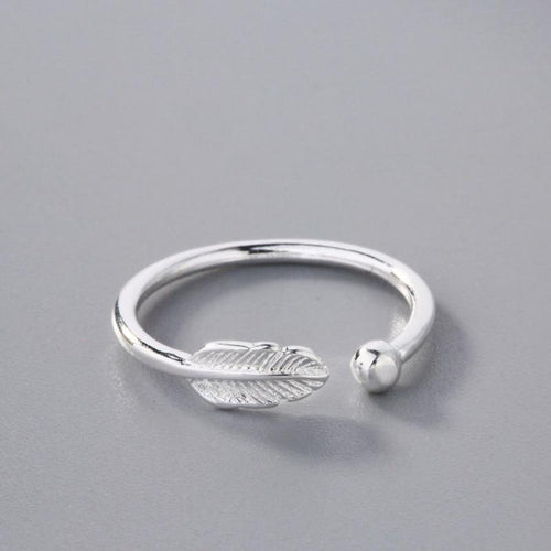 Silver Feather Bead Toe Ring - LoveOurJewelry.com