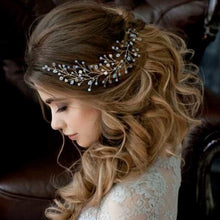 Load image into Gallery viewer, Bride Pearl Headdress - LoveOurJewelry.com