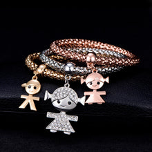 Load image into Gallery viewer, 3 Piece Customized Charm Bracelet - LoveOurJewelry.com