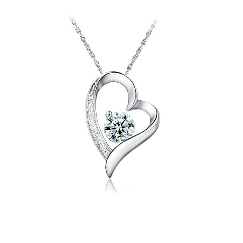 Romantic Crystal Heart Necklace - LoveOurJewelry.com