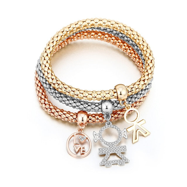 3 Piece Customized Charm Bracelet - LoveOurJewelry.com