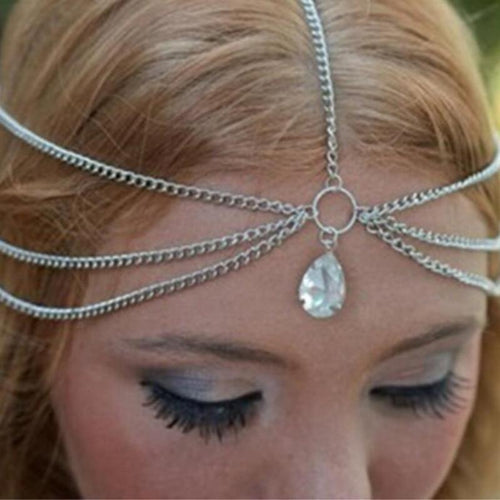 Tassel Water Drop Gem Headband - LoveOurJewelry.com