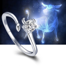 Load image into Gallery viewer, Our Unique Silver Zodiac Ring is a Beautiful Way to Wear Your Zodiac Sign