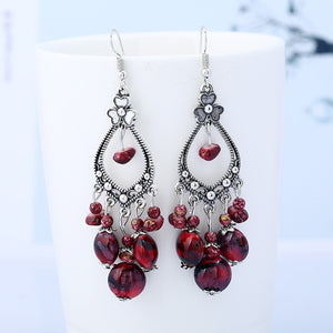 Vintage Flower- Beads Drop Earrings - LoveOurJewelry.com