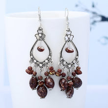 Load image into Gallery viewer, Vintage Flower- Beads Drop Earrings - LoveOurJewelry.com