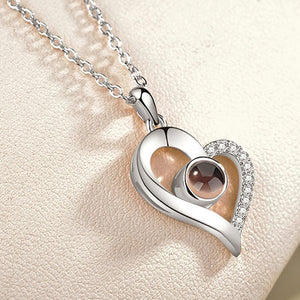 """I Love You"" Projection Pendant Pendant Necklace - LoveOurJewelry.com"