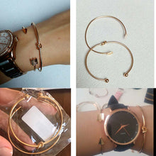 Load image into Gallery viewer, Our Simple Gold 2 Piece Tie Knot, Open Cuff Bracelet FREE WHEN YOU BUY ONE OF OUR WATCHES
