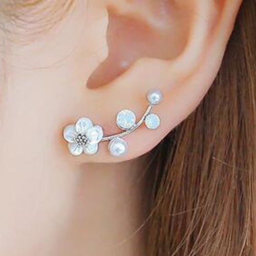 Pearl Shell Flowers Hypoallergenic Earrings