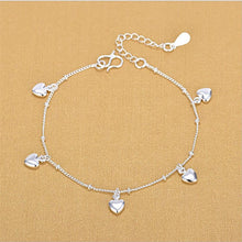 Load image into Gallery viewer, Cute Heart Silver Anklet - LoveOurJewelry.com