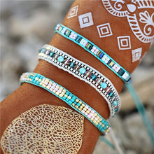 Load image into Gallery viewer, Handcrafted Bohemian Crystal Beads Cotton Braided Bracelets