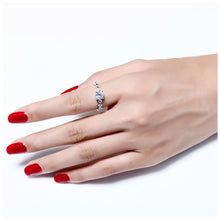 Load image into Gallery viewer, White Cubic Zirconia Cocktail Ring - LoveOurJewelry.com