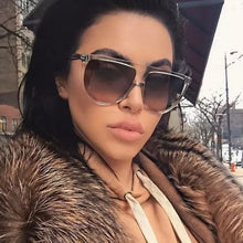 Load image into Gallery viewer, OUR KIM KARDASHIAN OVERSIZED RETRO SUNGLASSES IS TODAY'S FASHION STYLE!