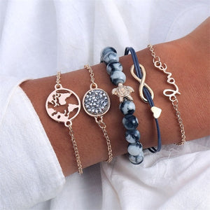 5 Piece Bohemian Style Bangle Set - LoveOurJewelry.com