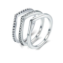 Load image into Gallery viewer, Shimmering Wish Stackable Finger Ring - LoveOurJewelry.com