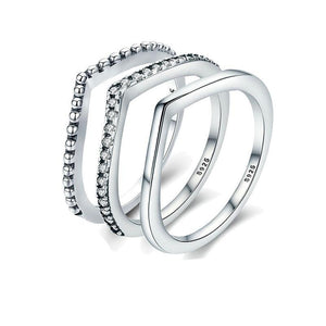 Shimmering Wish Stackable Finger Ring - LoveOurJewelry.com