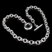 Load image into Gallery viewer, Bubble Chain Silver Necklace - LoveOurJewelry.com
