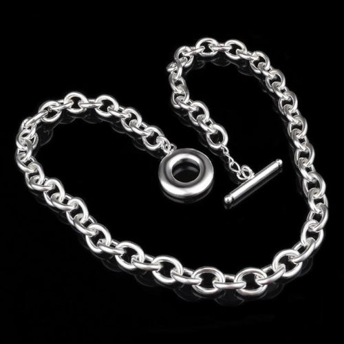 Bubble Chain Silver Necklace - LoveOurJewelry.com