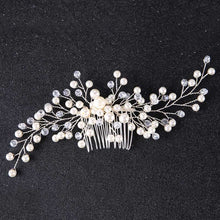 Load image into Gallery viewer, Flower Pearl Bride or Bridesmaid Headband - LoveOurJewelry.com