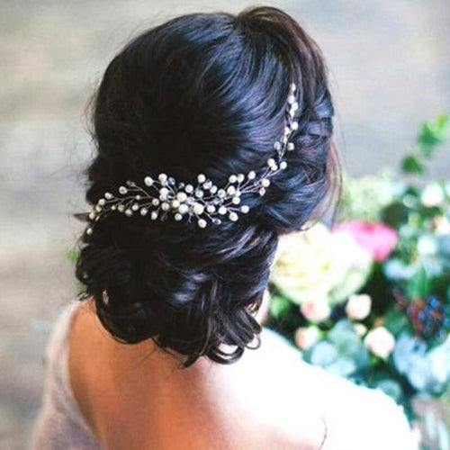 Flower Pearl Bride or Bridesmaid Headband - LoveOurJewelry.com