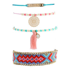 Load image into Gallery viewer, Handcrafted Woven, Beaded Ethnic Bracelet