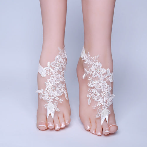 Bridal Beach Wedding Barefoot Sandals