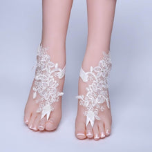 Load image into Gallery viewer, Bridal Beach Wedding Barefoot Sandals