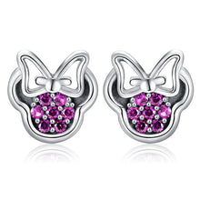 Load image into Gallery viewer, Mickey Minnie Mouse Hypoallergenic  Stud Earrings For Girls