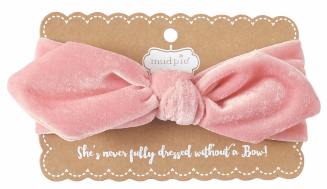 MP Velvet light pink headband