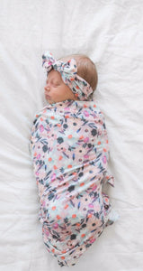 Copper Pearl Morgan Swaddle Blanket